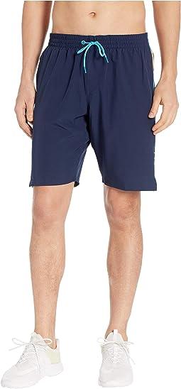 "9"" Retro Stripe Lap Volley Shorts"