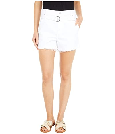 7 For All Mankind Paper Bag Shorts in Optic White (Optic White) Women