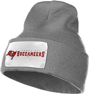 Tampa Bay Buccaneers Unisex Men Skullies Beanies Knitted Hat Winter Hats for Women Warm Thicken Solid Beanies,Deep Heather,