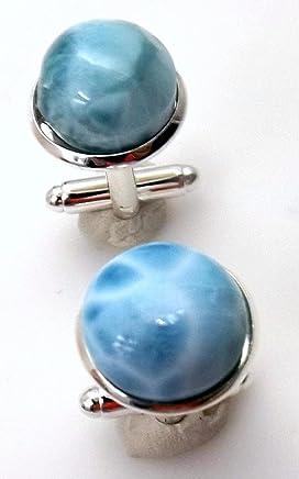 Larimar Something Wedding Formal Blue Cufflinks French Dress Shirt Tuxedo Accessory