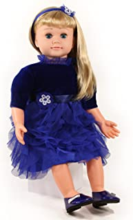 Ask Amy 22 inch Smart Interactive Talking Dolls for Girls Children Learning Toys Blond Blues Dress