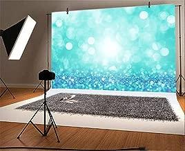 Baocicco 10x7ft Cyan Blue Bokeh Backdrop Dreamy Blue Light Spots Diamond-Like Glitters Photography Background Wallpaper Decor Girl's Birthday Party Adults Artistic Portrait Vlogger Studio Props