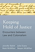 Keeping Hold of Justice: Encounters between Law and Colonialism (Law, Meaning, And Violence) (English Edition)
