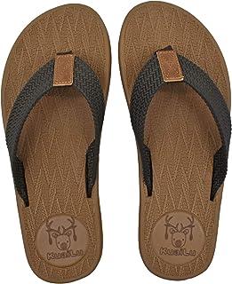 KuaiLu Tongs Mousse de Yoga Hommes en Tissu Thongs Poids l/éger Plates Adulte /ét/é Plage Piscine Sandales