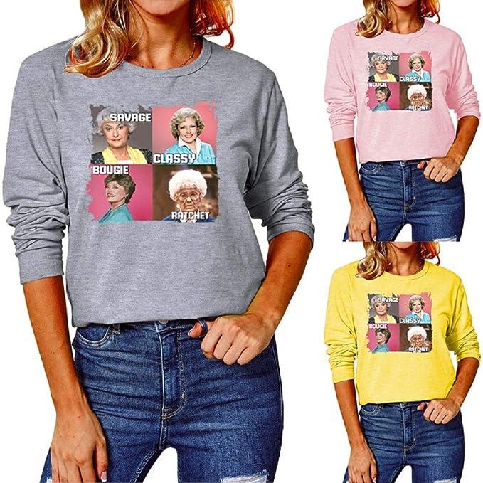 60% Off – Womens Round Neck Long Sleeve Shirt