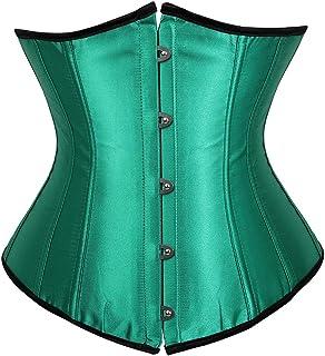 6183070fa8 Kranchungel Women s Vintage Underbust Corset Bustier Waist Cincher  Bodyshaper
