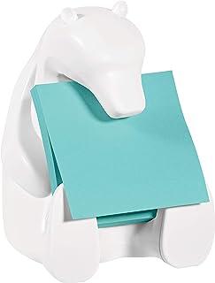 Post-it Notes dozownik białego niedźwiedzia z 2 podkładkami bardzo lepkich karteczek z motywem aquawave, 45 arkuszy/podkła...