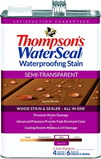 Thompsons Waterseal 42841 Semi-Transparent Acorn Brown WaterSeal® Waterproofing Stain