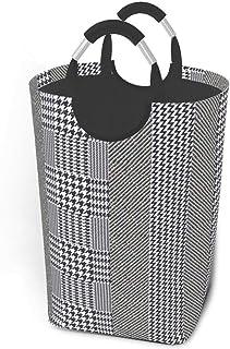ZCHW Panier à Linge élégant Anglais rayé Tweed Texture Panier à Linge Suspendu Panier de Rangement de vêtements Sales pani...