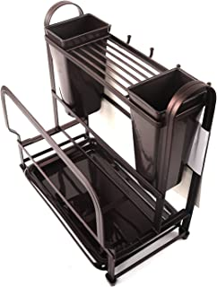 Berry Ave Kitchen Dish Drainer and Dryer Rack (Black) Vertical Utensil and Cutlery Washing or Drying   Rustproof, Heavy-Duty Stainless Steel   In or Beside Sink Use