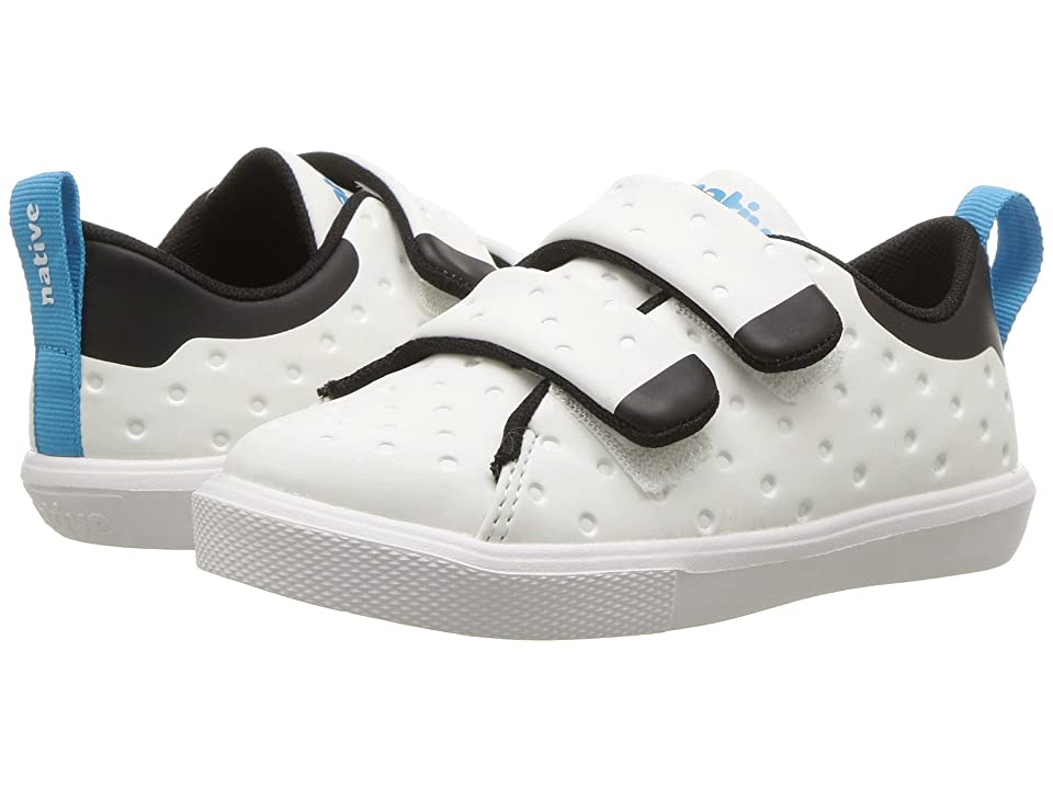 Native Kids Shoes Monaco HL CT (Toddler/Little Kid) (Shell White Coated/Jiffy Black/Shell White) Kids Shoes