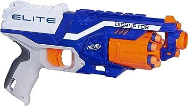 Nerf Disruptor Elite Blaster -- 6-Dart Rotating Drum, Slam Fire, Includes 6 Official Elite Darts -- For Kids, Teens, Adults