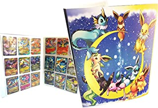 Pokemon Collection Handbook Trading Card Album GX EX TCG Game Card Professional Collection 324 Card Slot-(Pikachu Cover Blue Deluxe Edition)