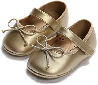 Baby Girls First Walker Rubber Sole Church Shoes
