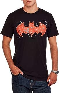 Men's Batman Red Logo Glow in The Dark Graphic T-Shirt