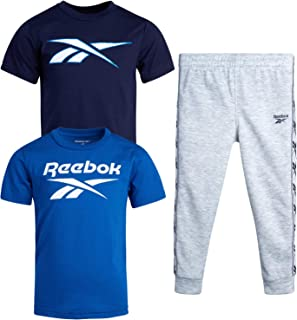 Baby Boys' Jogger Set – 3 Piece Short Sleeve T-Shirt and...