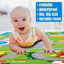 Ozoy Double Sided Water Proof Baby Mat Carpet Baby Crawl Play Mat Kids Infant Crawling Play Mat Carpet Baby Gym Water Resistant Baby Play & Crawl Mat(Large Size - 5 Feet X 6 Feet)