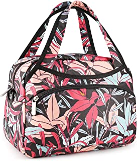 BDBAG Lunch Bag Cooler Bag Women Tote Bag Insulated Lunch Box Water-resistant Thermal Lunch Bag Soft Liner Lunch Bags for women/Picnic/Boating/Beach/Fishing/Work (Red Flower)