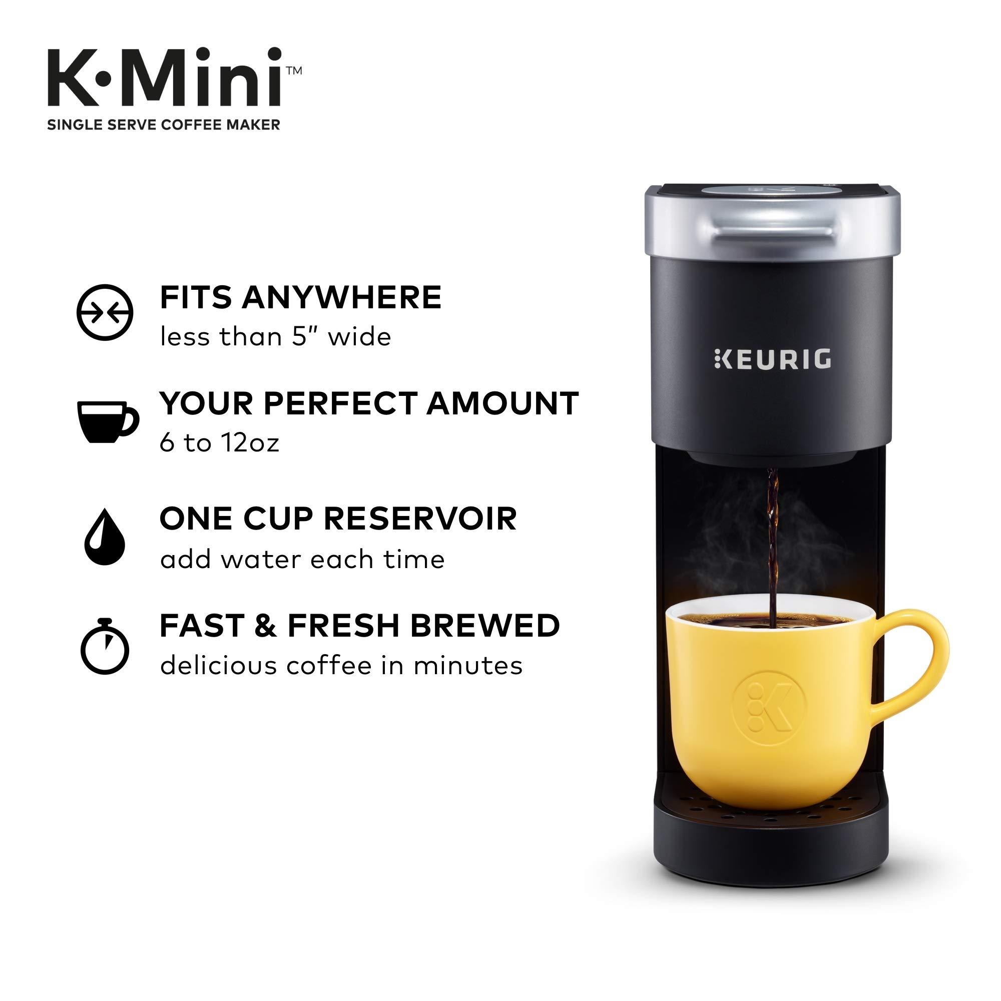 Amazon Com Keurig K Mini Coffee Maker Single Serve K Cup Pod Coffee Brewer 6 To 12 Oz Brew Sizes Black Kitchen Dining