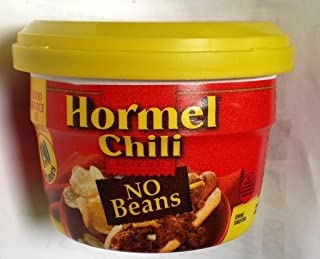 Hormel Chili No Beans Microwave Cup 7.38 Oz (Pack of 6)