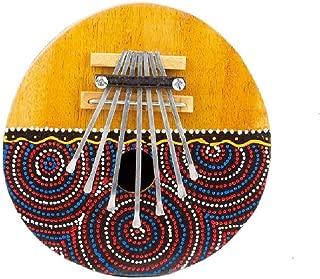 Kalimba Thumb Piano - 7 keys - Tunable - Coconut Shell - Painted by Bethlehem Gifts TM