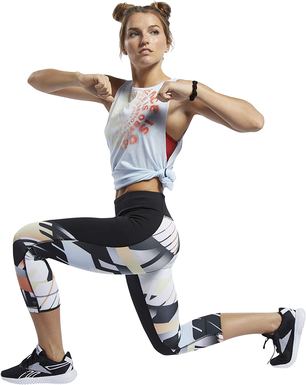 Reebok Womens Crossfit Lux Bold 3//4 Tight