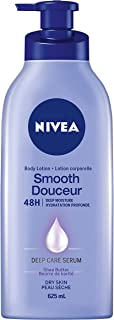 Nivea Smooth Irresistible Care Body Lotion for Dry Skin, Shea Butter, 625mL