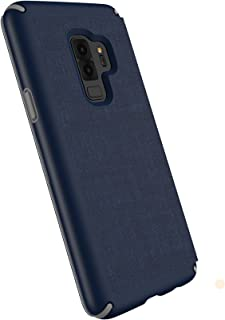 Speck Products Compatible Phone Case for Samsung Galaxy S9 Plus, Presidio Folio Case, Heathered Eclipse Blue/Eclipse Blue/Gunmetal Grey