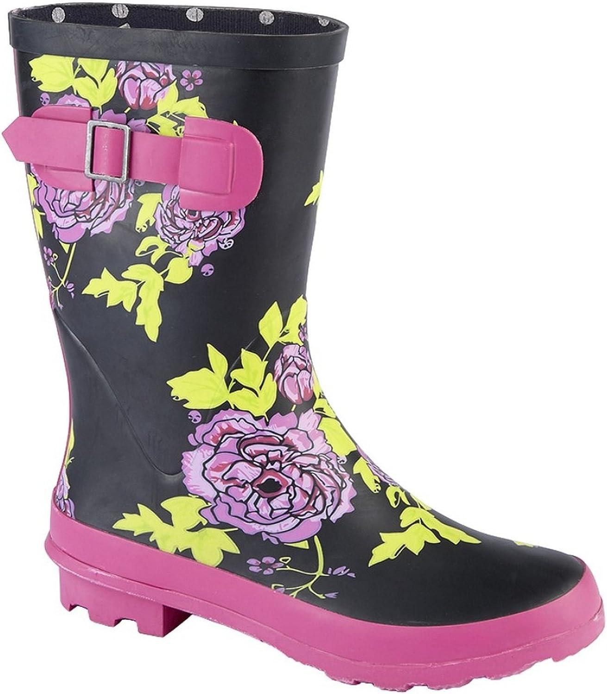 Land of Wood Woodland Womens Ladies Mid Calf Wellington Boot