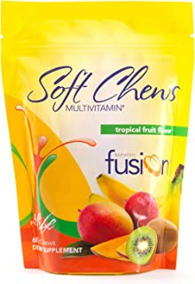 Bariatric Fusion Tropical Fruit Bariatric Multivitamin Soft Chews for Post Bariatric Surgery Patients Including Gastric Bypass and Sleeve Gastrectomy, 60 Count, 1 Month Supply