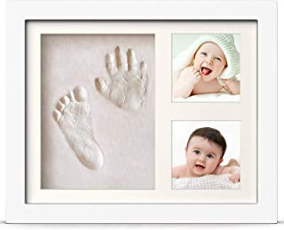BraceTek Cadre Empreintes Bébé, Kit Empreinte Bebe Mains pour Liste de Naissance, Souvenirs mémorable Décorations murale o...