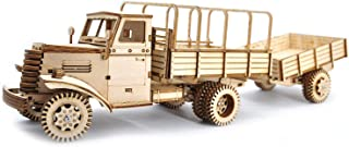 CZYY 3D Wooden Dump Truck Building Kit with Trailer Large DIY Wood Car Mechanical Construction Toy Creative Gift for Kids & Adults