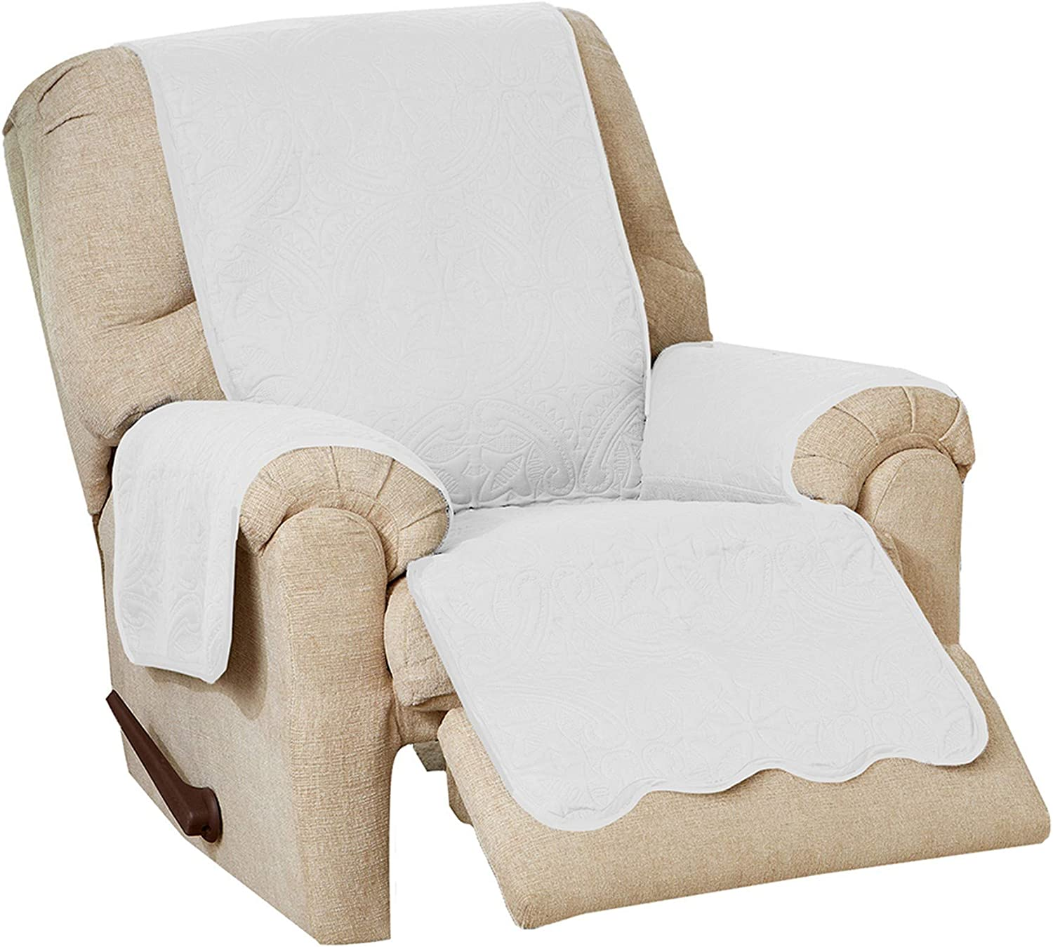 famous Medallion Stitched Solid Furniture Resistant Stain Du Charlotte Mall Protector.