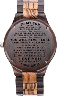 Engraved Watch for Son Personalized Watch for Son Graduation Gifts from Mom and Dad