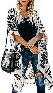 Landove Cardigan Estivo Donna Maniche 3/4 Kimono Boho Chic Bikini Coverup