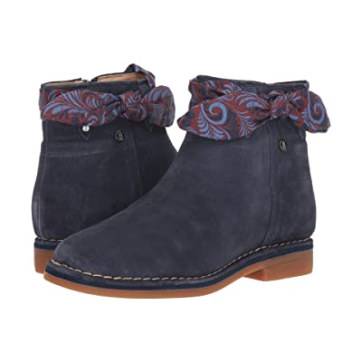 Hush Puppies Catelyn Bow Boot (Navy Suede) Women