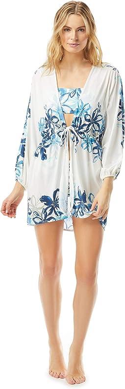 Fleur Fresca Kimono Sleeve Cover-Up