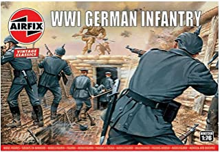 Airfix Vintage Classics WWI German Infantry Figures 1:72 Military Soldiers Plastic Model Kit