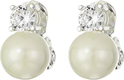 Pearl/Cubic Zirconia Earrings