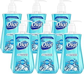 Dial Liquid Hand Soap, Spring Water, 7.5 Fl. Oz, Pack of 6