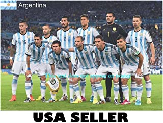 Argentina 2014 team photo POSTER 34 x 23.5 Lionel Messi Argentine soccer football World Cup runners up Sergio Romero (sent FROM USA in PVC pipe)