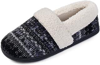 RockDove Women's Nordic Winter Fuzzy Knit Memory Foam Slipper