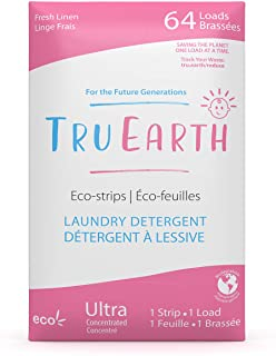 Tru Earth Hypoallergenic, Eco-Friendly & Biodegradable Plastic-Free Baby Laundry Detergent Eco-Strips for Babies with Sens...