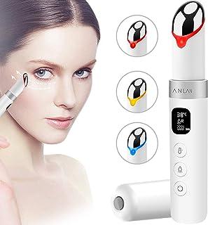 ANLAN Masajeador de Ojos con Luz LED, 38-45° Calor, Vibración Sónica, Pantalla LCD, USB Recargable, Remover las Arrugas pa...
