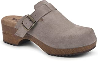 WHITE MOUNTAIN Shoes Behold Leather Footbeds Clog