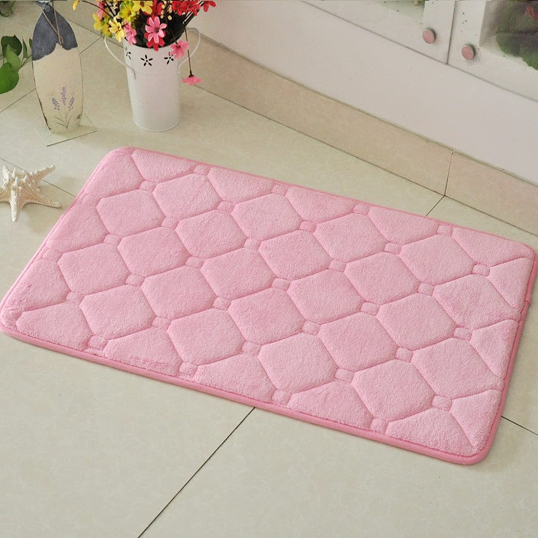 Slow springback mats Bathroom Water-Absorption mat Door mat for Kitchen Suede Anti-Slip mats-E 50x80cm(20x31inch)