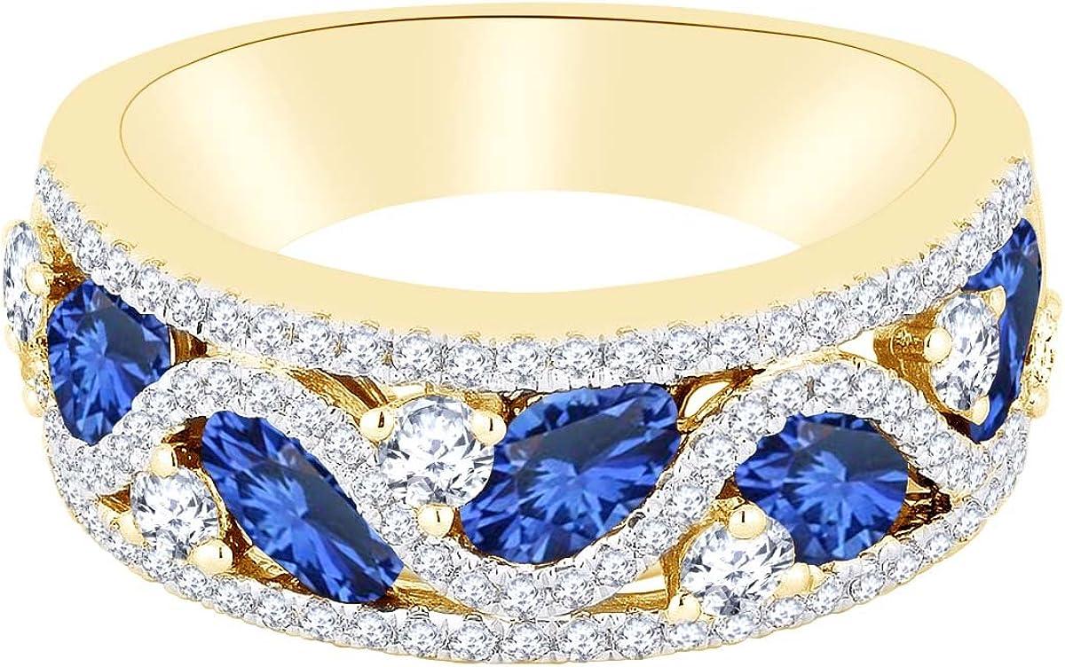 AFFY Simulated Blue Sapphire Diamond Product Virginia Beach Mall Natural White Anniversary