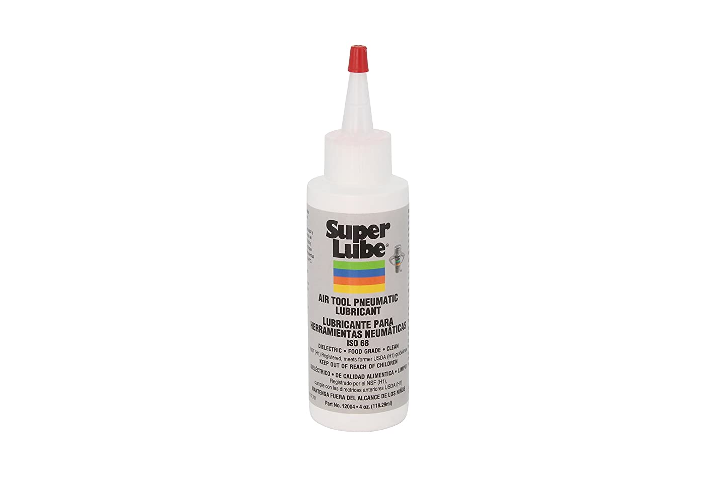 Super Lube 12004 Air Tool Lubricant, 4 oz Bottle, Translucent Clear