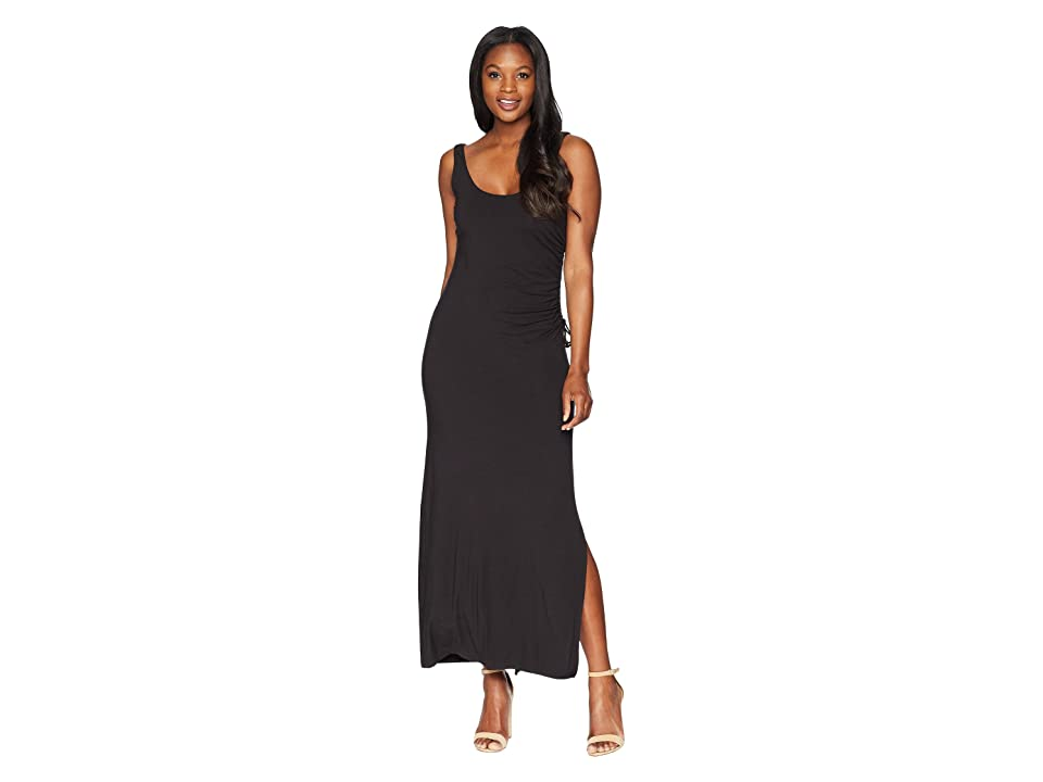 Tommy Bahama Tambour Shirred Maxi Dress (Black) Women