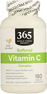 365 by Whole Foods Market, Vitamin C Complex Buffered, 180 Veg Capsules